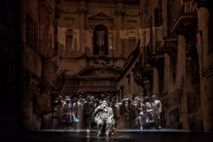 MARGHERITA by Jacopo Foroni; Wexford Festival Opera; National Opera House of Ireland; Wexford; 13 October 2017; Conte Rodolfo - Yuriy Yurchuck; Ser Podesta - Matteo D'Apolito; Margherita - Alessandra Volpe; Ernesto - Andrew Stenson; Giustina - Giuliana Gianfaldoni; Roberto - Filippo Fontana; Gasparo - Ji Hyun Kim; Conductor - Timothy Myers; Director - Michael Sturm; Set and costume Designer - *Stefan Rieckhoff; Lighting Designer - DM Wood; Photo credit; © CLIVE BARDA/ArenaPAL;